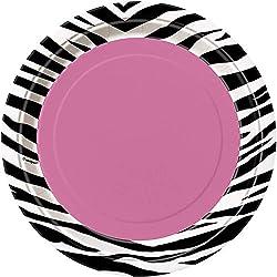 Zebra Print Paper Plates