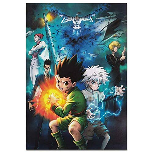 XYDBB Malen nach Zahlen Hunter Hunter Anime Poster Klassisches heißes Poster Seidenstoff Poster Druck 12x18 24x36 Art Decor 40x60 cm 3