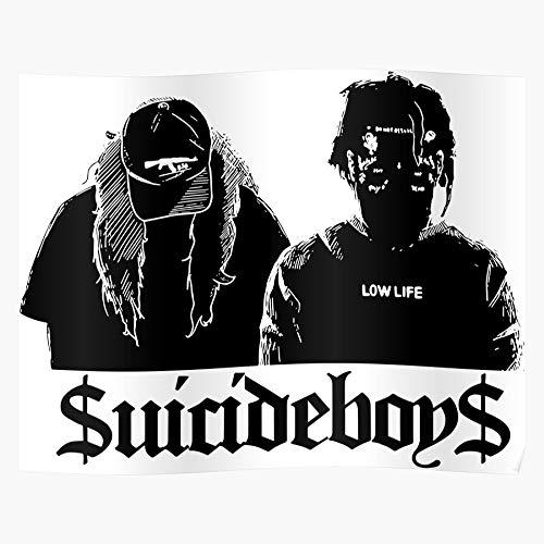 Uicideboy Ghostemane Lil Suicide Peep Soundcloud Ap Suicideboys Pouya El mejor y más nuevo póster para la sala de decoración del hogar de arte de pared