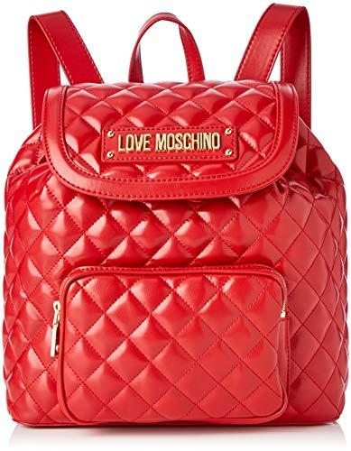 Love Moschino Quilted Nappa Pu, Borsa a Zainetto Donna, Rosso (Rosso), 15x10x15 cm (W x H x L)