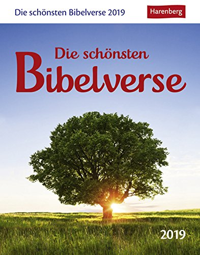 Die schönsten Bibelverse - Kalender 2019 - Harenberg-Verlag - Texte aus der Lutherbibel - 12,5 cm x 16 cm