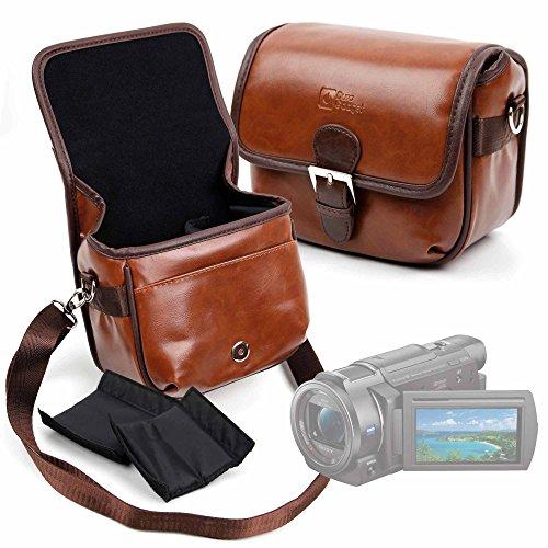 DURAGADGET Bolsa Profesional marrón con Compartimentos para Cámara Sony Handycam FDR-AX33 4KUHD...