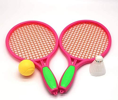 Nologo Anybz Sport Volleyball und Badminton-Satz, bewegliches im Freien Badminton Kombination Set, justierbare Badminton Net System-Federbälle & Carry Fall Spiele, Spaß Rasen Beach-Spiel