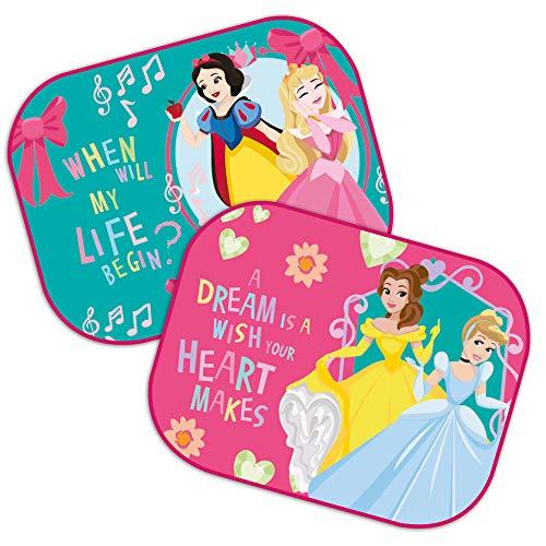 Theonoi - 2 parasoles para coche, diseño de Minnie Mouse, Frozen, princesas, Sofía, cortinas laterales, parasol de protección UV