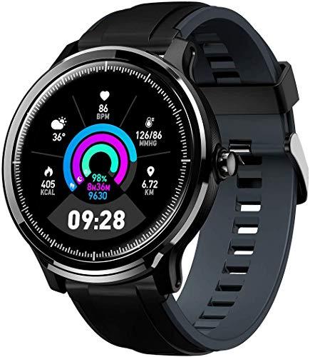 Smartwatch Reloj Inteligente con un Correa Verde Oscuro Reemplazable Impermeable IP68 Pulsera Actividad Monitor de Sueño Calorías Podómetro Pulsómetro Notificación de Llamada y Mensaje Hombre Mujer miniatura