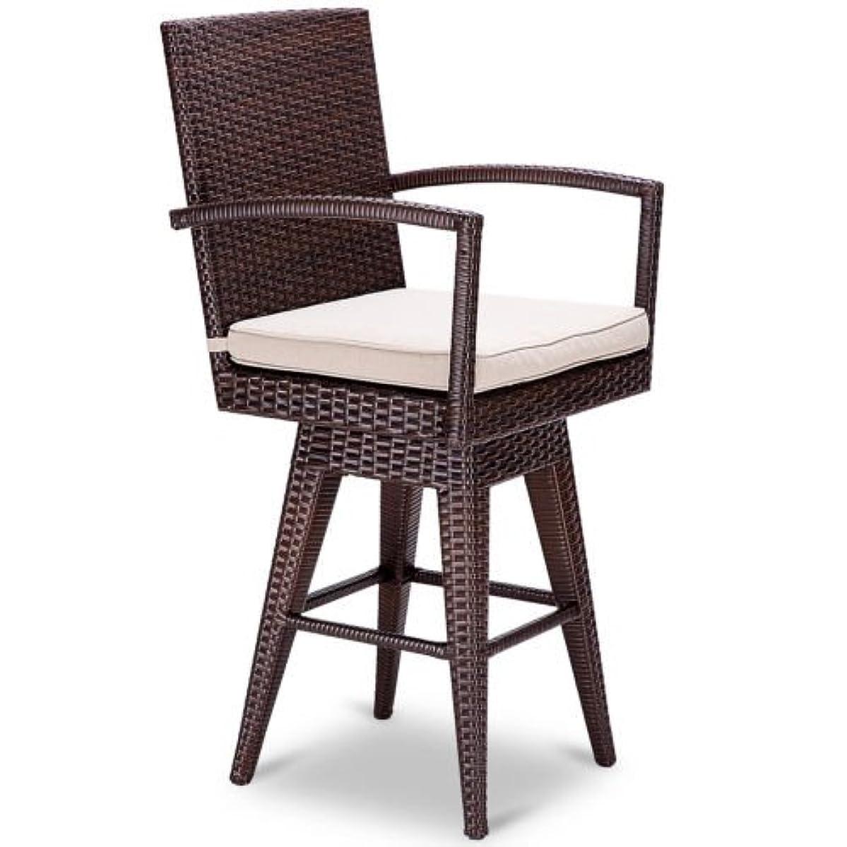 Stark Item Outdoor Wicker Swivel Bar Stool Chair Patio Backyard Furniture Seat Cushion
