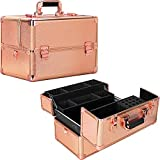 Ver Beauty 3 easy slide extendable trays professional cosmetic makeup train case organizer
