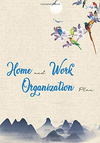 Home and work Organization Plan: Manage Family Household, Weekly Cleaning Checklist, Work organizer with planner, take care you