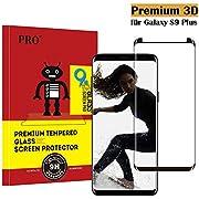 Samsung Galaxy S9 Plus Panzerglas Schutzfolie , Hohe Qualität 3D Displayschutzfolie [Ultra Klar] [9H Härtegrad] [Anti-Fingerabdruck] [Blasenfreie Installation] Gehärtetes Glas Panzerglas Folie für Samsung Galaxy S9 Plus
