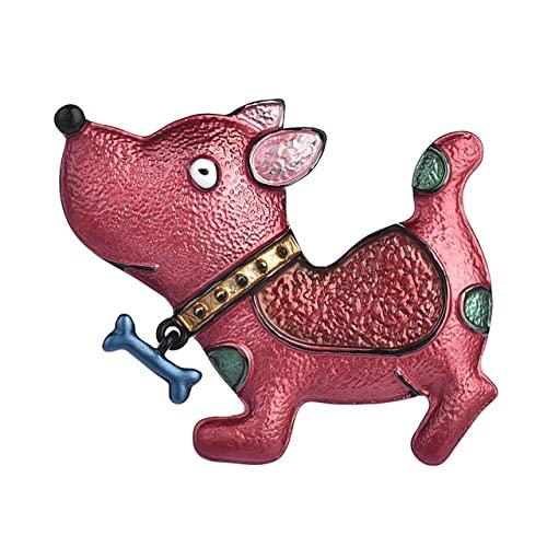 HANYUU 2 STÜCKE Broschen für Frauen Emaille Tier Hund Brosche Mädchen Anzug Party KleidungZubehör-color4,jhgk