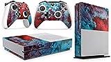 giZmoZ n gadgetZ GNG Skin Adhesivo de Vinilo de Colour Explosion de para la Consola Xbox One S + Set de 2 Skins para los Controladores