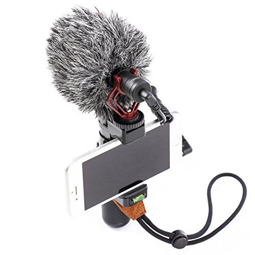 Mouriv Professionelle Smartphone Halterung Video Stabilizer Handy Filme Halterung Stabilisator mit Richtmikrofon für Mobile Phone Videomaker Film-Maker Filmen Videographer für iPhone X 8 7 SumSang