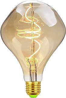 LightingDesigner Bombillas LED vintage de 4 W regulables Edison, bombillas espirales, espirales, espirales, decorativas, 2000 K, 240 lm, 220/240 V, Alien G125