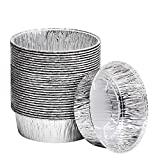 8-Inch Aluminum Dutch Oven Liner Pans | Disposable Cake Pan and Extra Deep Aluminum Foil Pans for Baking, Freezing, and Storage | Durable Aluminum Round Baking Pans | 100 Count