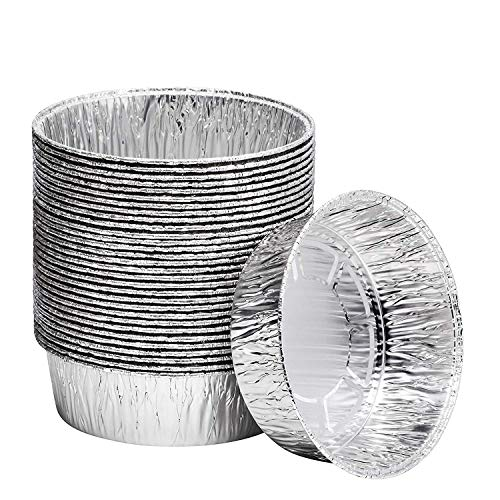8-Inch Aluminum Dutch Oven Liner Pans | Disposable Cake Pan and Extra Deep Aluminum Foil Pans for Baking, Freezing, and Storage | Durable Aluminum Round Baking Pans | 10 Count