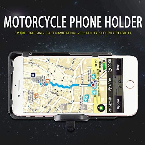 Supporti moto per Cellulari Navigatore,Dual Porta USB compatibili con Apple Android Smartphone per B M W F700 800GS R1200GS ADV LC Adventure S1000XR R1200RS, H O N D A CRF1000L Africa Twin CRF1000L