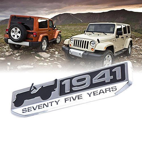 Toppower 75th 1941 Anniversary Edition Emblem Silber