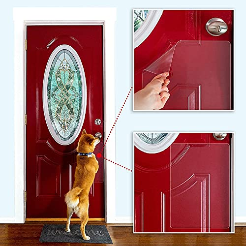 """3 PACK Scratch Door Protector, Door Scratch Shield, Frame & Wall Scratch Protection Barrier for Dog and Cat Clawing, Door Protector from Dog Scratching and Damaging Doors12""""x17"""" Inches 08mm Thick"""