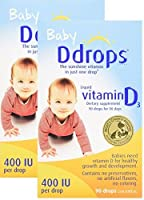 Ddrops Baby 400 IU, 90 Drops, 2 Count by Ddrops [並行輸入品]
