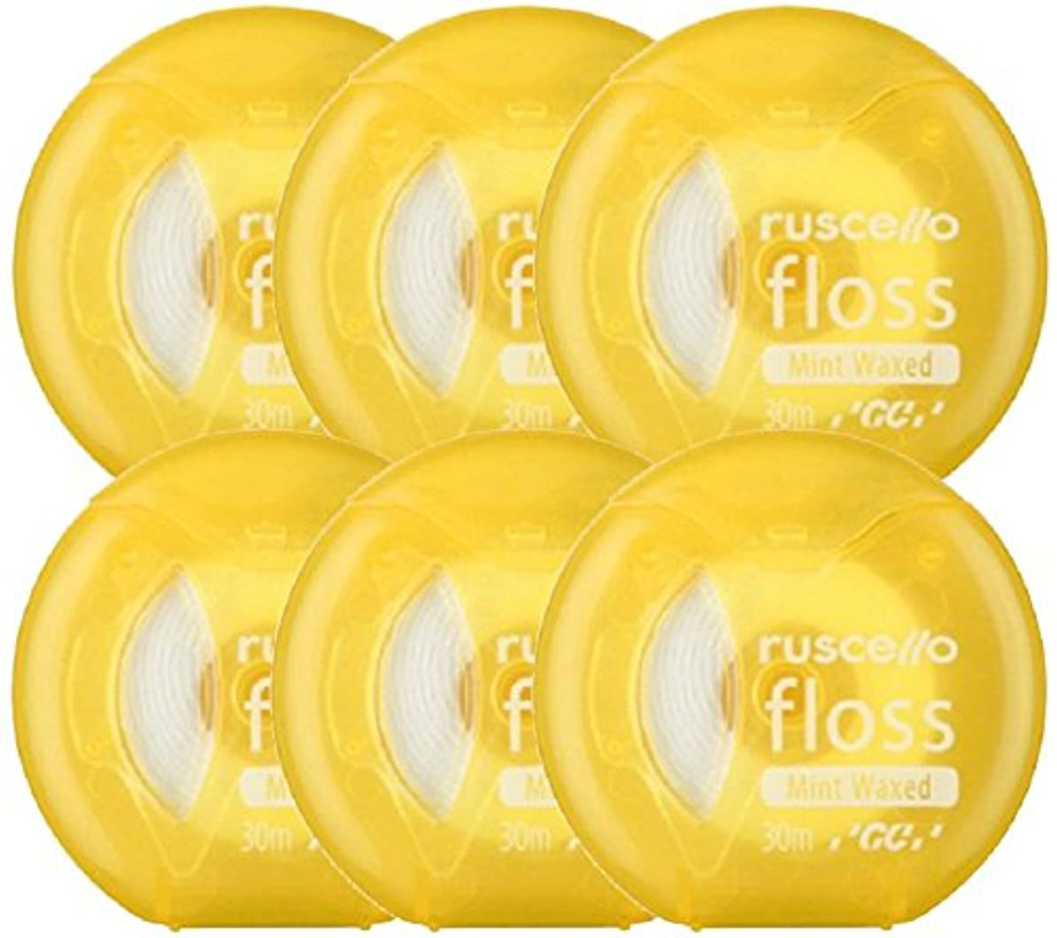 必要性ウナギメアリアンジョーンズジーシー(GC)歯科用ルシェロ フロス ミントワックス 6個 イエロー