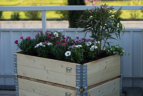Schroth Home Hochbeet Gartenbeet Aufsatzrahmen 80 x 60 cm