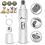 Gimars Upgrade Super Powerful 8000rpm Quiet 50db Painless Dog Nail Grinder Trimmer, Electric Rechargeable 2 Speed Pet Paws Nail Trimmer Grooming Smoothing for Small/Medium/Large Dogs Cats