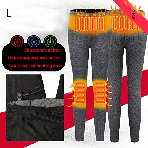 Smart verwarming leggings herfst en winter verticale strepen van isolerende broeken goederen duin stretch warme broek zwart