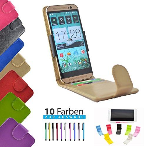 4 in 1 set ikracase Slide Flip Hülle für Archos 50 Titanium 4G Smartphone Tasche Case Cover Schutzhülle Smartphone Etui in Gold