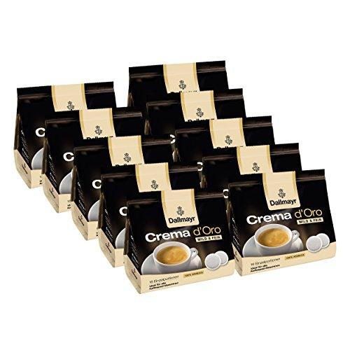 Dallmayr Crema d'Oro Mild & Fein, für alle Pad Maschinen, Röstkaffee, 160 Pads, á 7 g