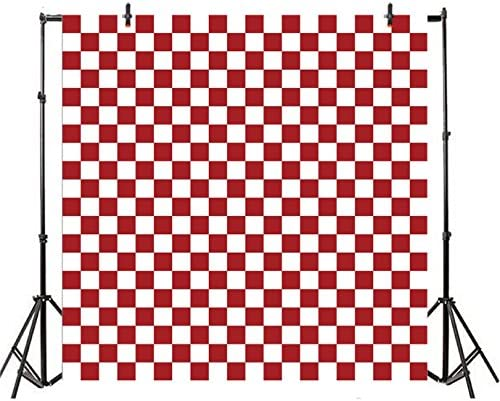 6x6FT Vinyl Photography Backdrop,Geometric,Mosaic Grid Pattern Photo Background for Photo Booth Studio Props