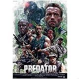 SDGW Arnold Schwarzenegger Predator Beat Monster Póster De Película Impresiones Lienzo Cuadro De Pared para La Decoración De La Habitación del Hogar-50X70Cm Sin Marco