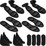 8 Pairs Shoe Insoles Toe Filler Inserts Heel Grip Liner Pads Sponge Shoes Pads with High Heel Inserts Adjustable Cushion Inserts for Men Women, Fit Most Shoes (Black)