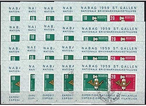 Goldhahn SchWeiß Block 16 gestempelt Serie Nr. 1-20 komplett Briefmarken für Sammler