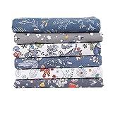 Comius Sharp Tissus Coton Couture, Tissus en Coton pour Patchwork, Paquets de Tissus pour Patchwork et Patchwork de Tissu au Metre Patchwork Multicolore (6 Pièces 40 x 50 cm A)