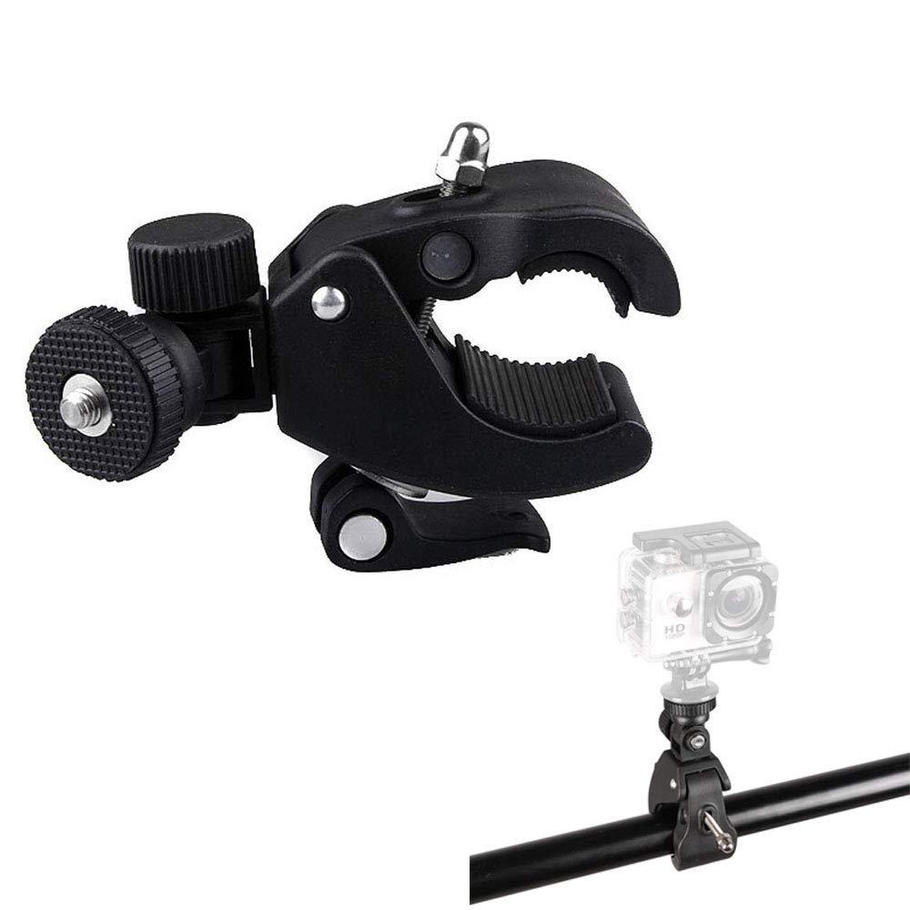 LCDディスプレイ/デジタル一眼レフカメラ/ DV / Mic Gopro iPhone iPad /ミュージックスタンド/マイクスタンド/オートバイ/自転車/ロッドに対応する0.64 cm三脚ヘッドとYUOCUスーパークランプLサイズ