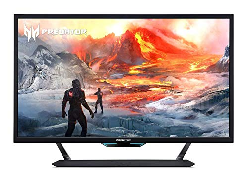 Acer Predator CG437K Pbmiiippuzx 43' 4K UHD NVIDIA G-SYNC Compatible Gaming Monitor with VESA Certified DisplayHDR 1000, 144Hz, 1ms VRB, (2 x Display Port, 3 x HDMI Port & 1 USB Type-C Port),Black