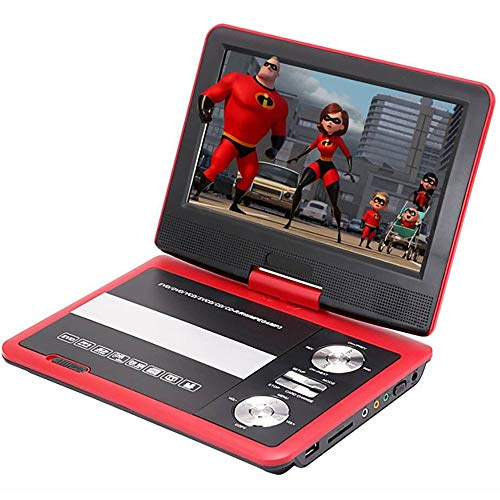 Affordable GuangXin Portable HD DVD Player, 9 with Advanced High Brightness Swivel Screen, 3.5 Head...