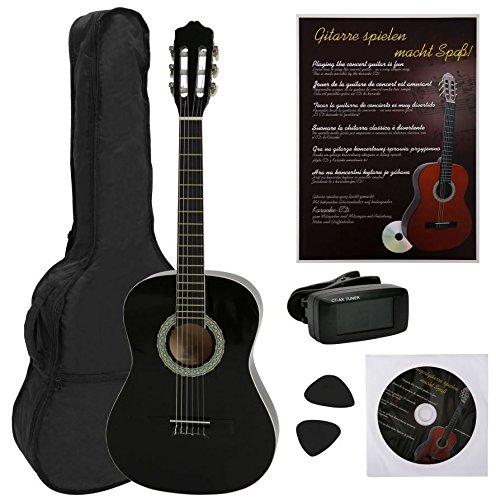 NAVARRA NV14PK - Guitarra acustica STARTER PACK 3/4 negro