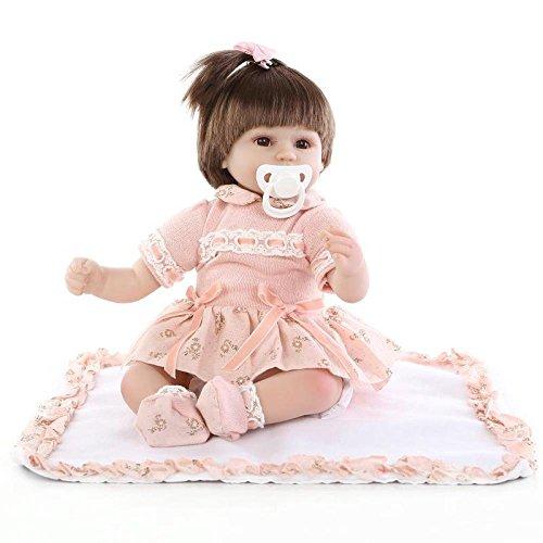 Bebé De Renacimiento De Simulación Chica Realista Pelo Largo Muñecas De Bebés 17 Pulgadas 45 Cm Juguete Realista Regalo De Cumpleaños De Los Niños