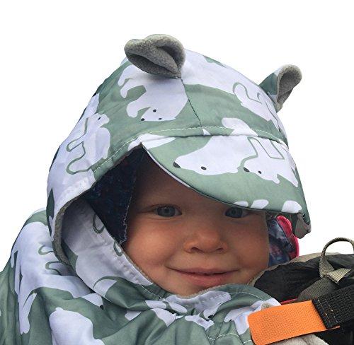 BundleBean BabyWearing Copertura impermeabile per fascia e marsupio porta-bebè, resistente alle intemperie