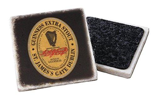 Sottobicchiere in pietra Guinness con porta di San Giacomo Extra Stout Label Design