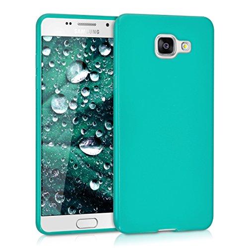 kwmobile Funda Compatible con Samsung Galaxy A5 (2016) - Carcasa de TPU Silicona - Protector Trasero en Turquesa Mate