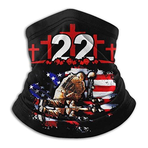 Hdaw 22 cada día soldado veterano PTSD conciencia Unisex microfibra cuello calentador Headwear boca bufanda bandana pasamontañas