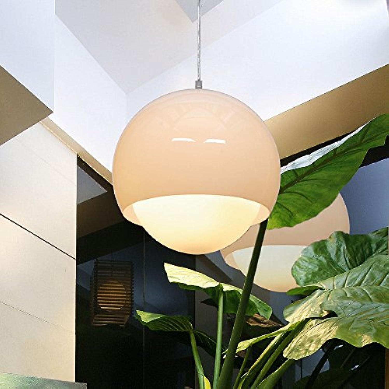 Meetyou Einfache Moderne Persnlichkeit Kreative Kronleuchter, Wohnzimmer Lampe Acryl, Glaskugel, Stehtisch Restaurant Lampen,MilkyWeiß