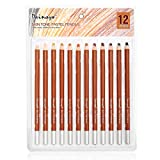 Dainayw Skin Tone Pastel Pencils, Soft 5mm Core, Premier Colored Pencils For Artist Drawing, Sketching - 12 Piece Portrait Set