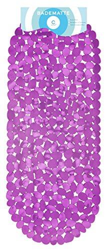 Circul Badewannenmatte 99 x 39 cm Beere Steinoptik modern