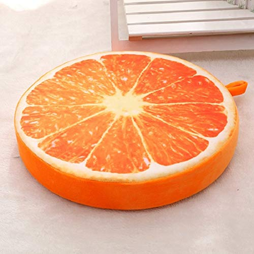 YLCJ Removable Fruit seat Cushion, 6cm Thick Creative 3D Round Computer Chair mat, for Indoor Outdoor Cushions-b 38cm (15 inch)