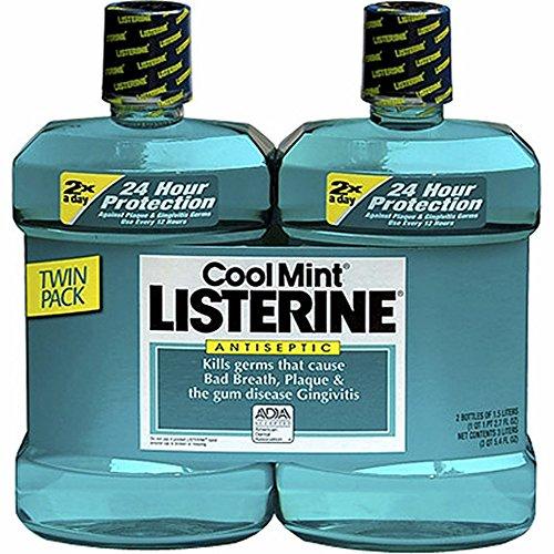 Product of Listerine Cool Mint Antiseptic Mouthwash, 2 pk./1.5L - Oral Rinse & Mouthwash [Bulk...