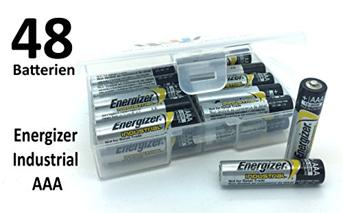 48 Batterien (2x24 Stück) Energizer Industrial AAA Micro LR03 in Flachbox