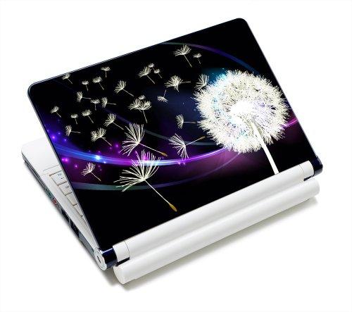 Luxburg® Design Aufkleber Schutzfolie Skin Sticker für Notebook Laptop 13 / 14 / 15 Zoll, Motiv: Pusteblume